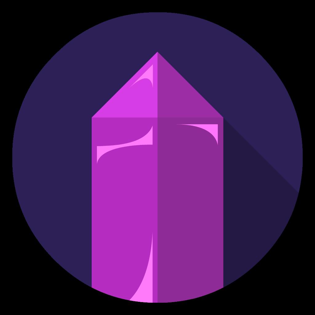 Amethyst flat icon