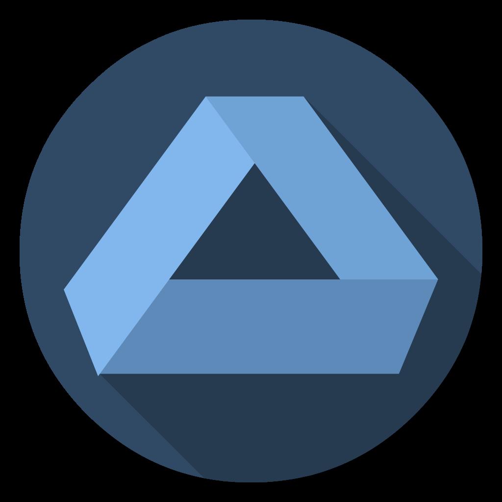 Affinity Designer flat icon
