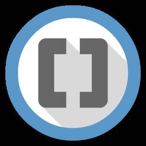 Brackets flat icon