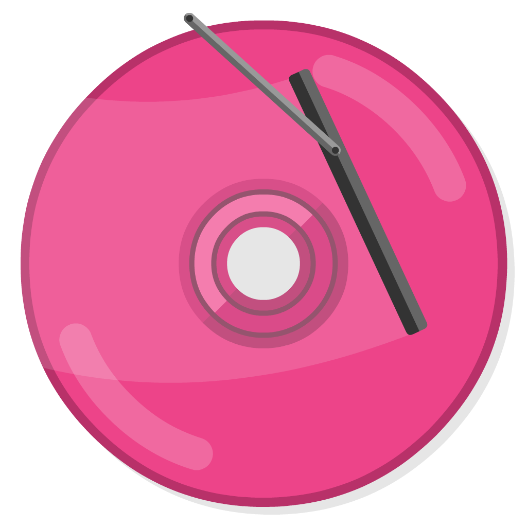 Clean My Drive flat icon