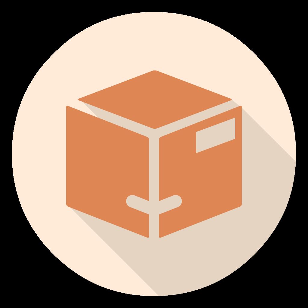 Parcel flat icon