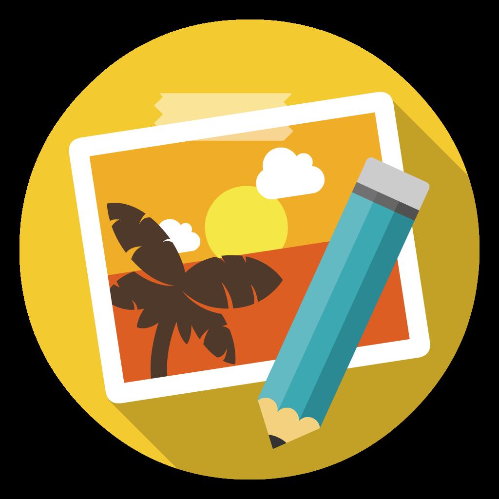Pixelmator flat icon