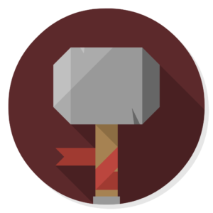 Thunar flat icon
