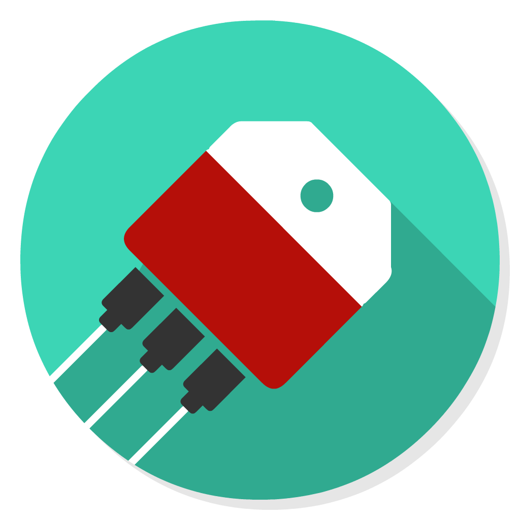 Transistor flat icon