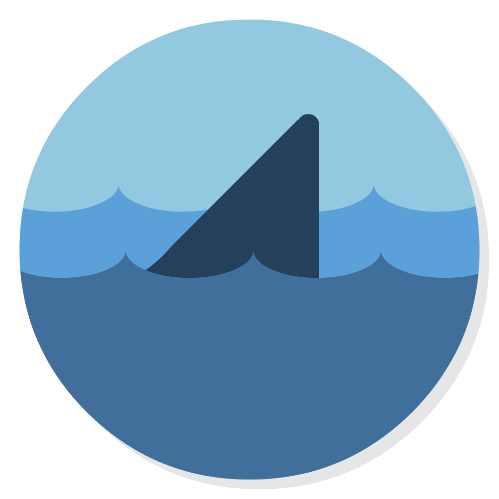 Wireshark flat icon