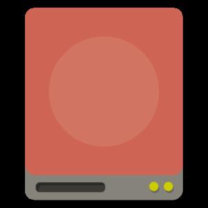 Drive Server flat icon