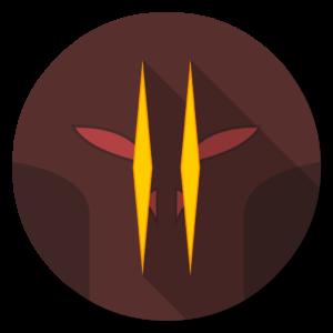 Diablo 2 flat icon
