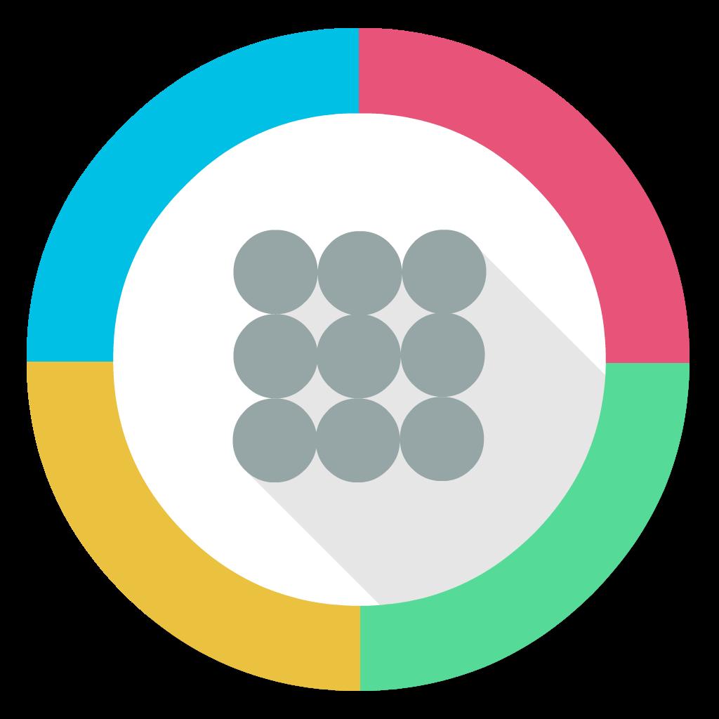 Google App Launcher flat icon