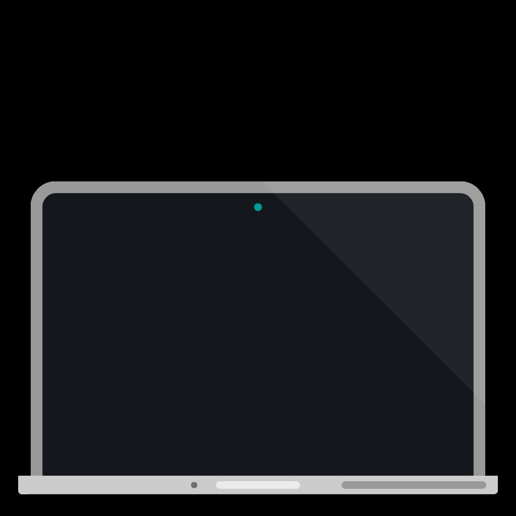 Apple MacBook Pro flat icon