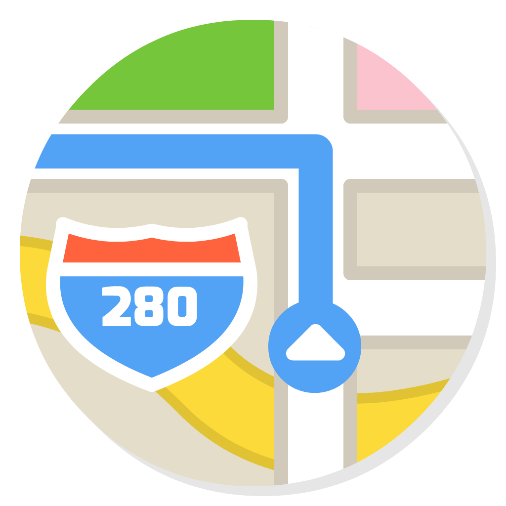 Maps flat icon