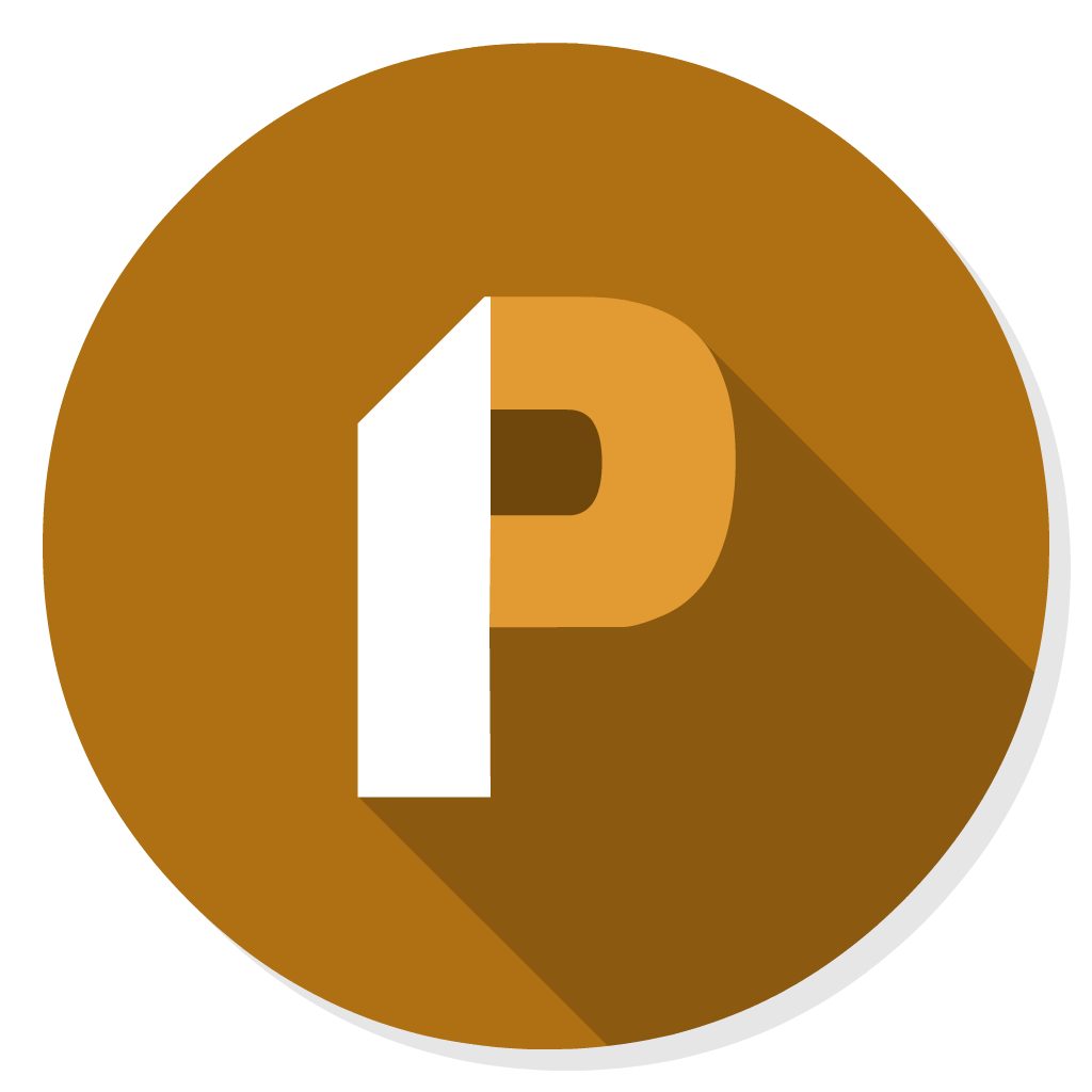 Ms Powerpoint flat icon