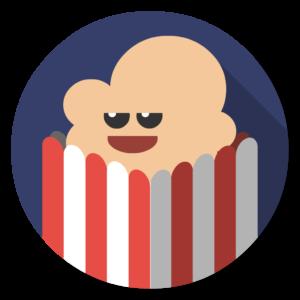 PopCornTime flat icon