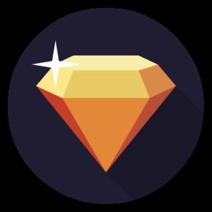 Sketch flat icon