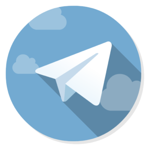 Telegram flat icon