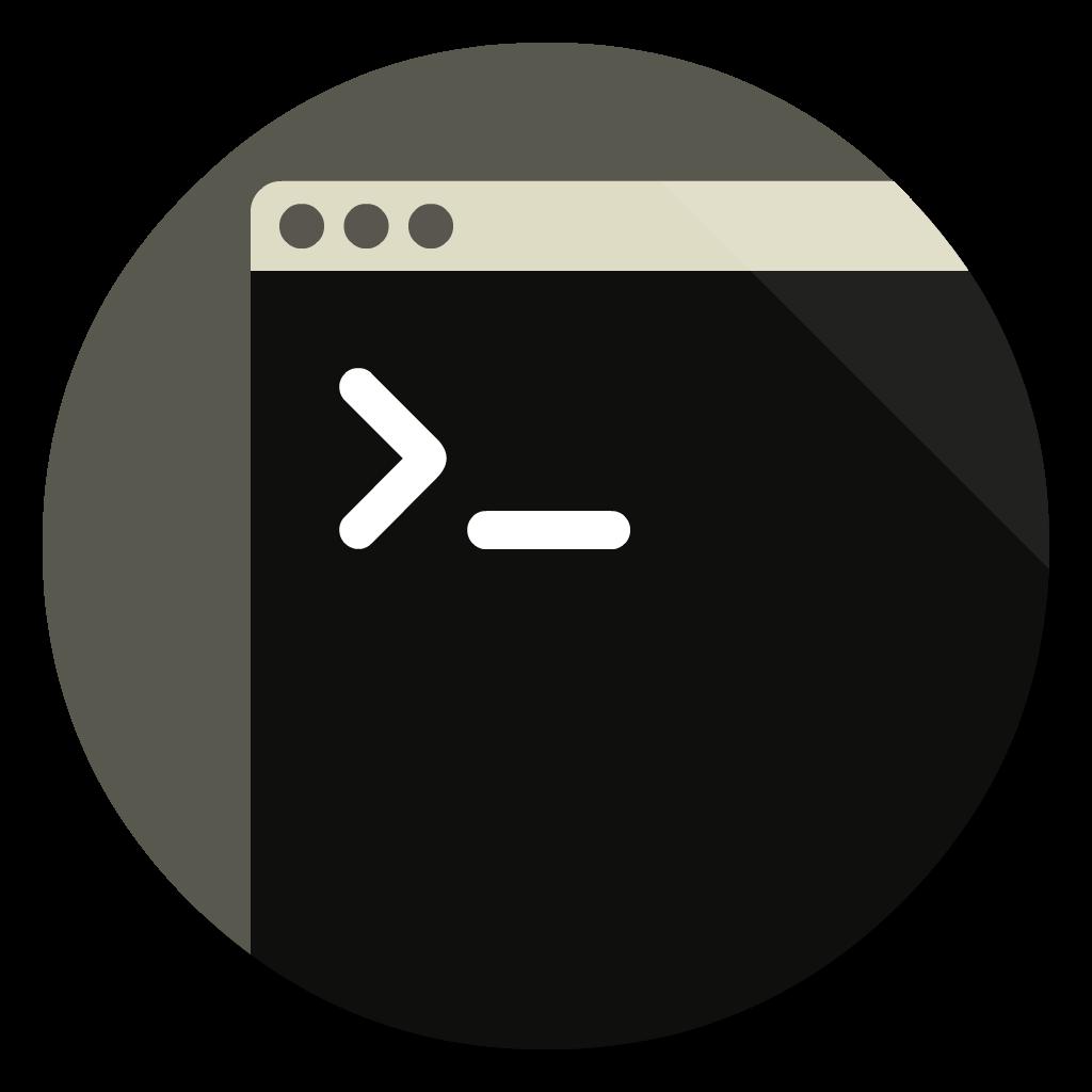 Terminal flat icon