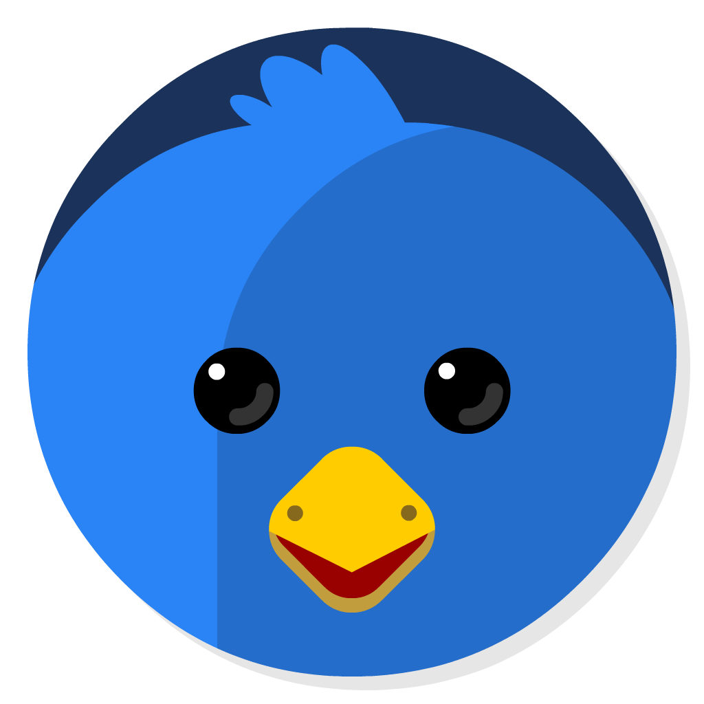 Twitterrific flat icon