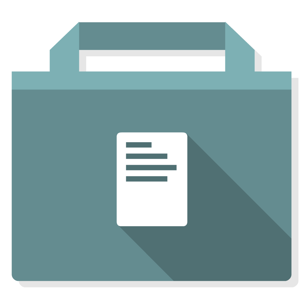 Documents flat icon
