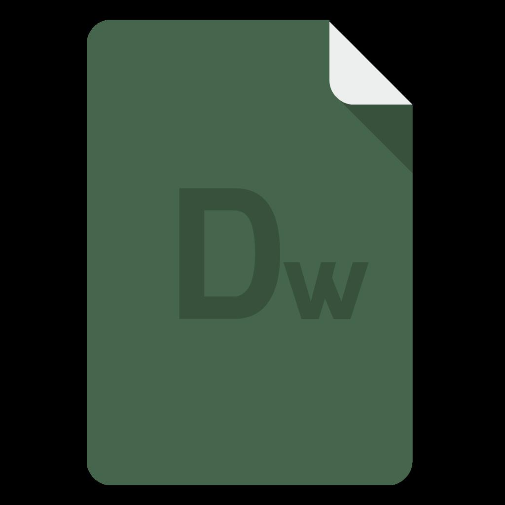 Adobe Dreamweaver flat icon