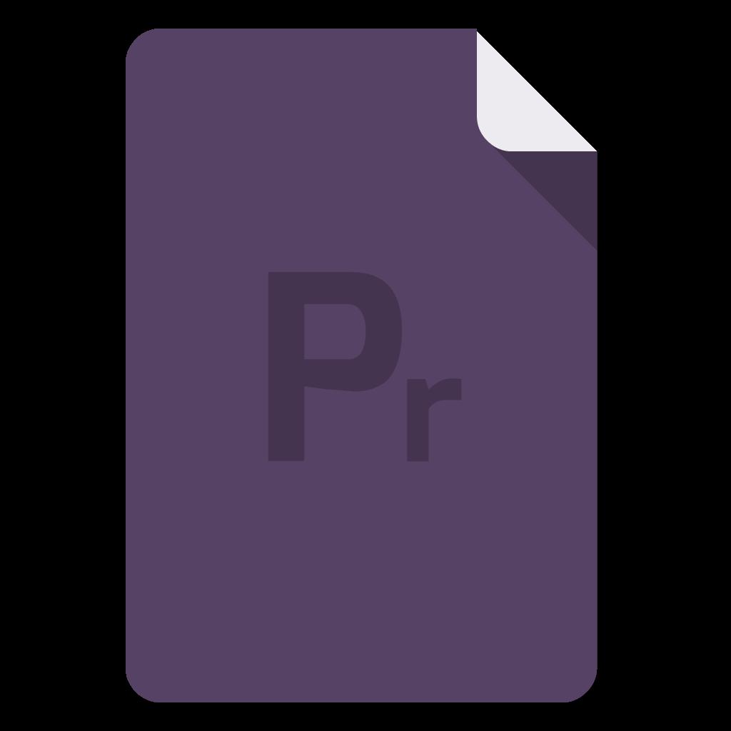 Adobe Premiere flat icon