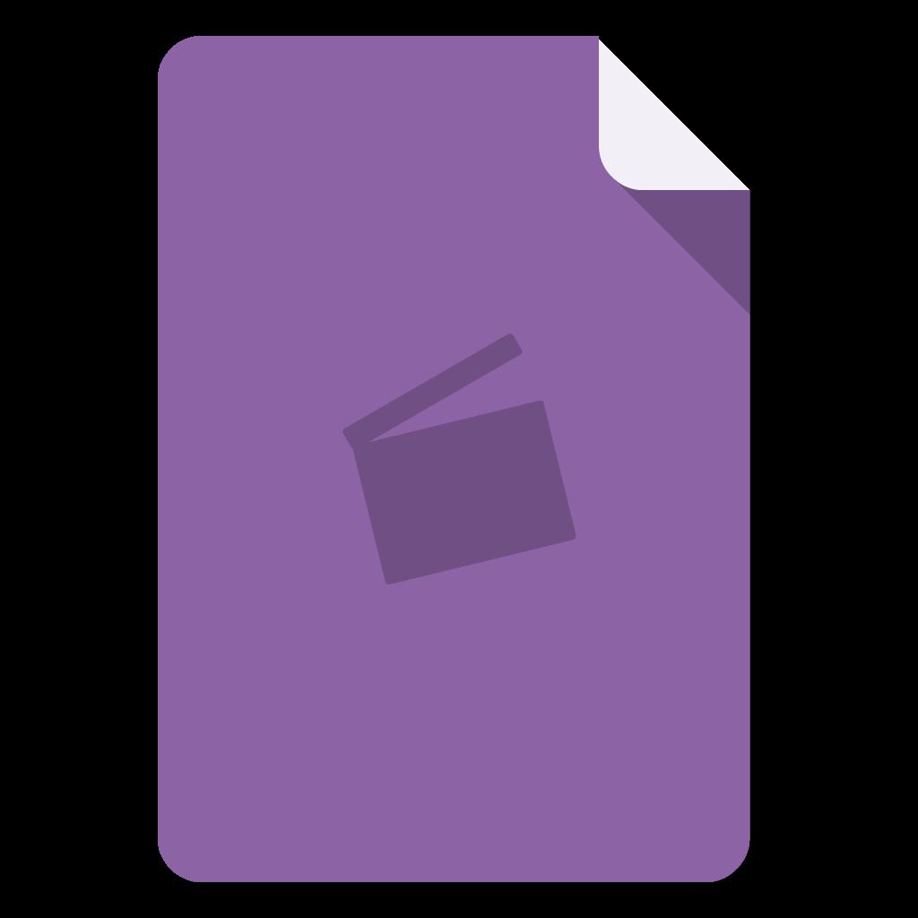 Imovie flat icon