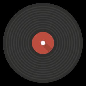 Vinyl flat icon