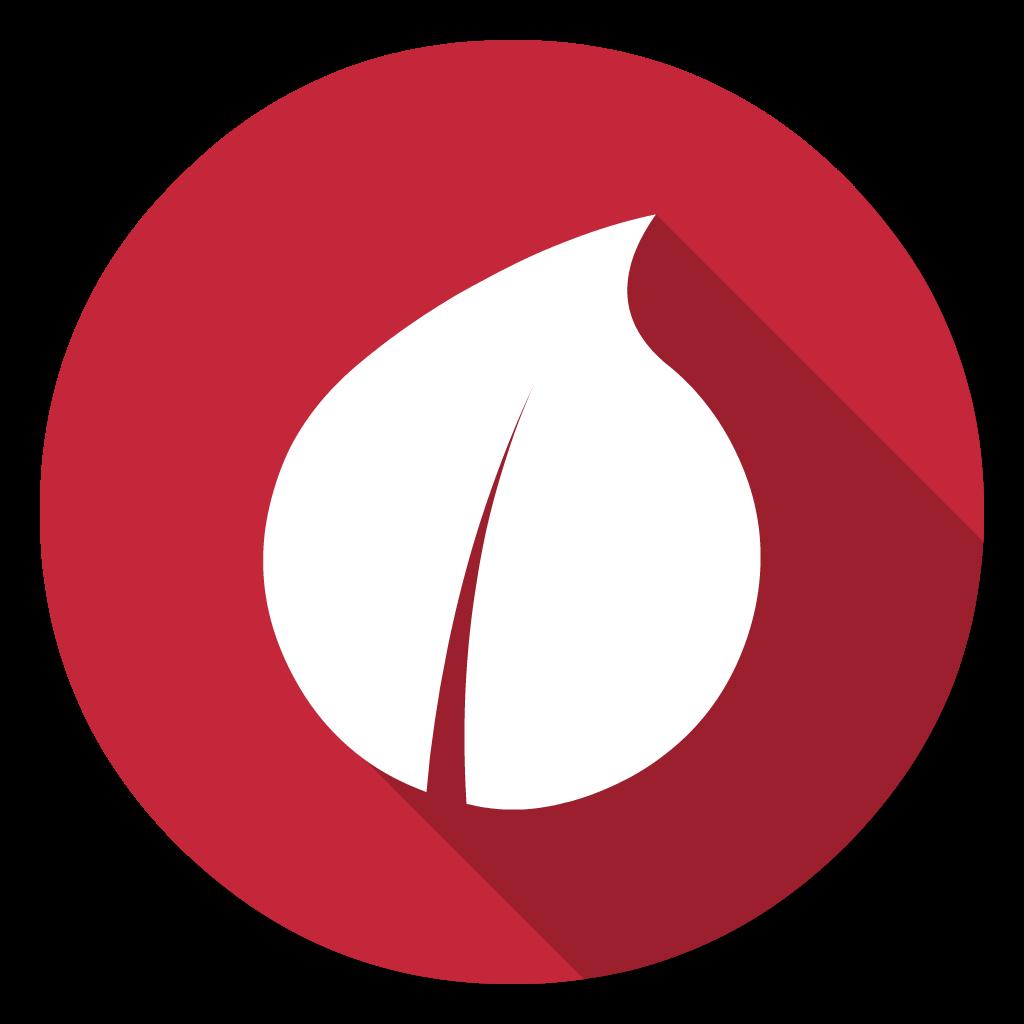 Leaf flat icon