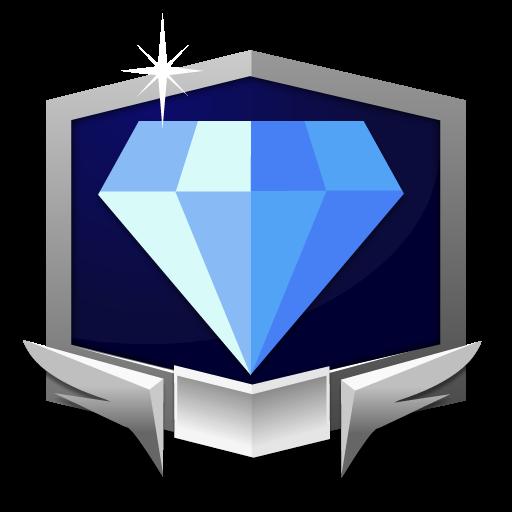 RANK DIAMOND *** flat icon