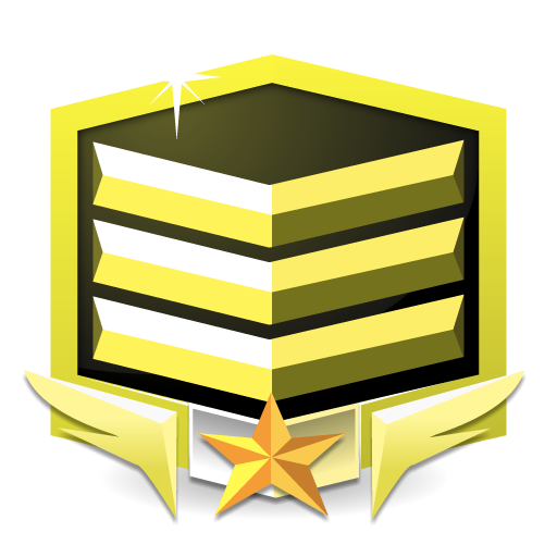 RANK GOLD **** flat icon