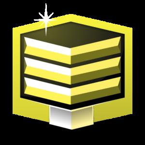 RANK GOLD ** flat icon