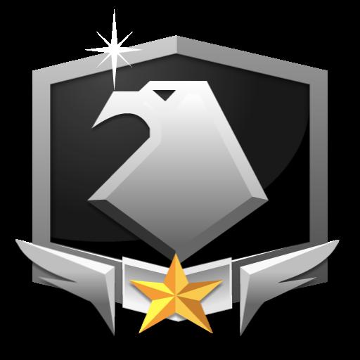 RANK PLATINUM **** flat icon