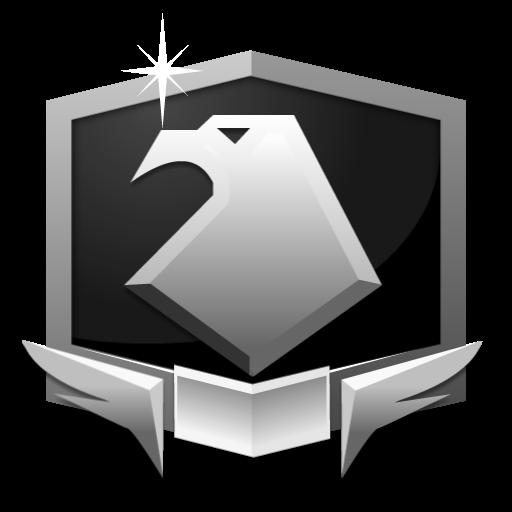 RANK PLATINUM *** flat icon