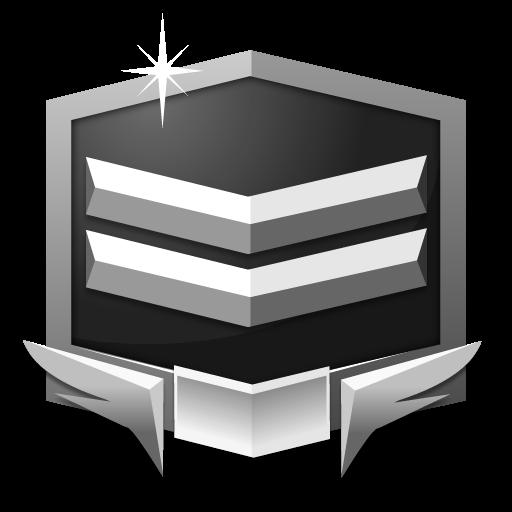 RANK SILVER *** flat icon