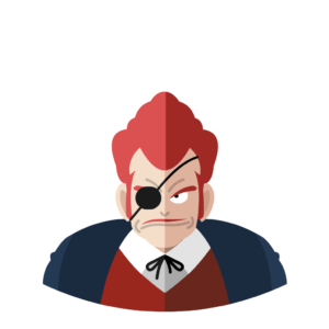 Commander Red flat icon