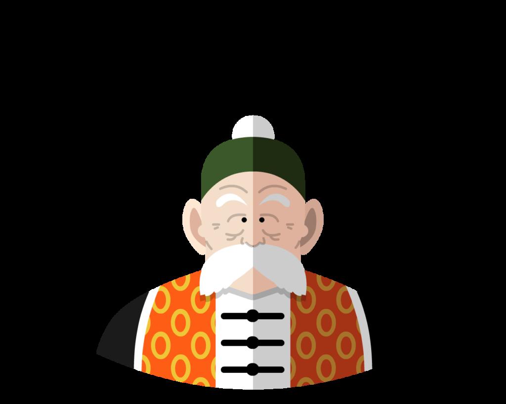 Grandfather flat icon