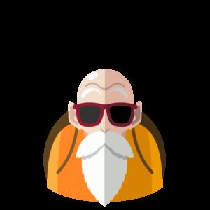 Master Roshi flat icon