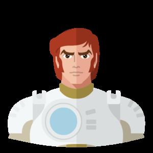 Captain Future flat icon