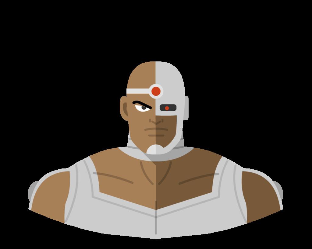 Cyborg flat icon