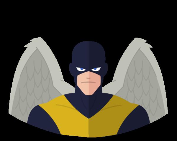 X-Men Angel flat icon