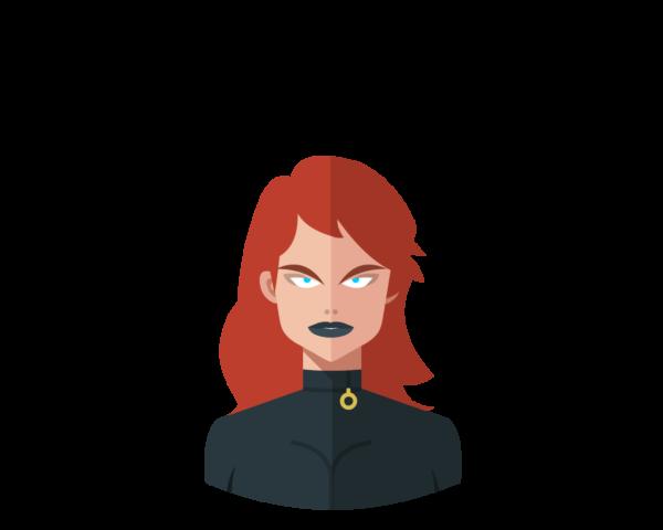 Black Widow flat icon