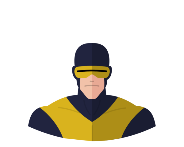 X-Men Cyclops flat icon