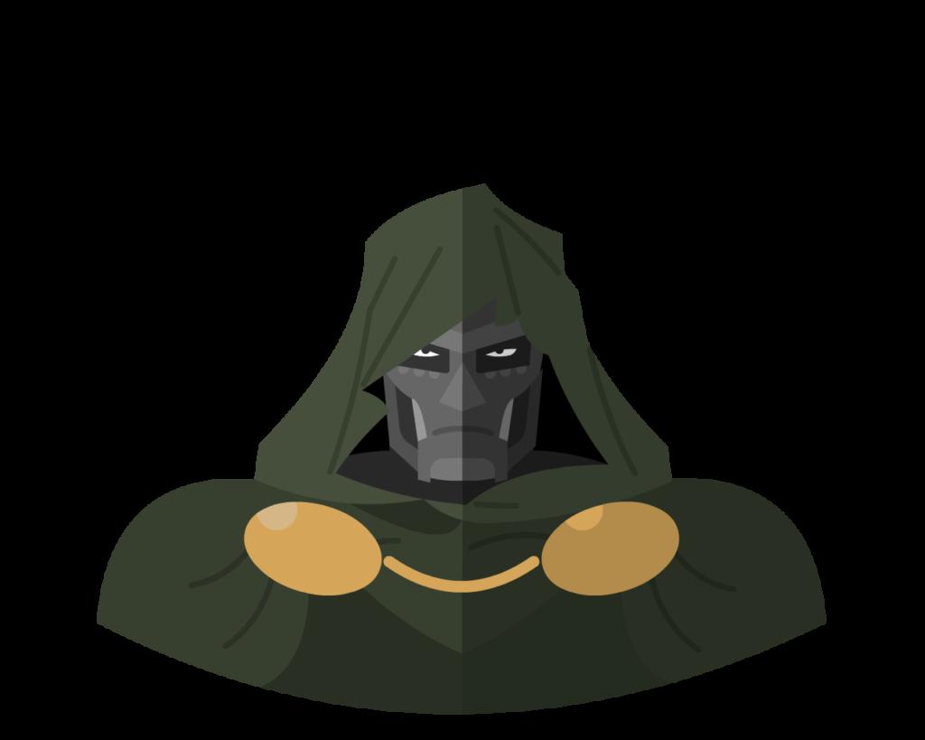 Dr Doom flat icon