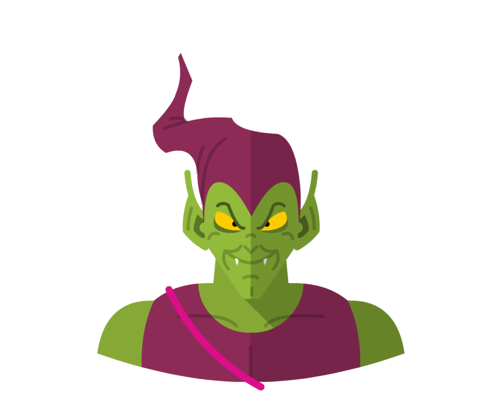 Green Goblin flat icon