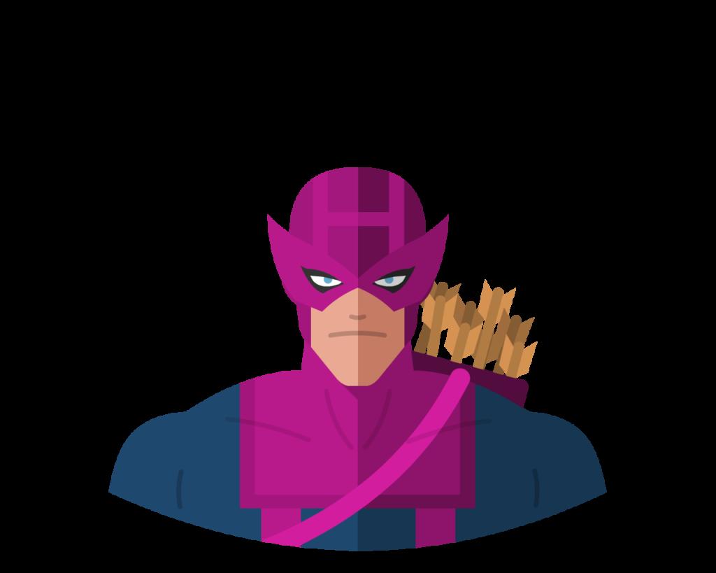 Hawkeye flat icon