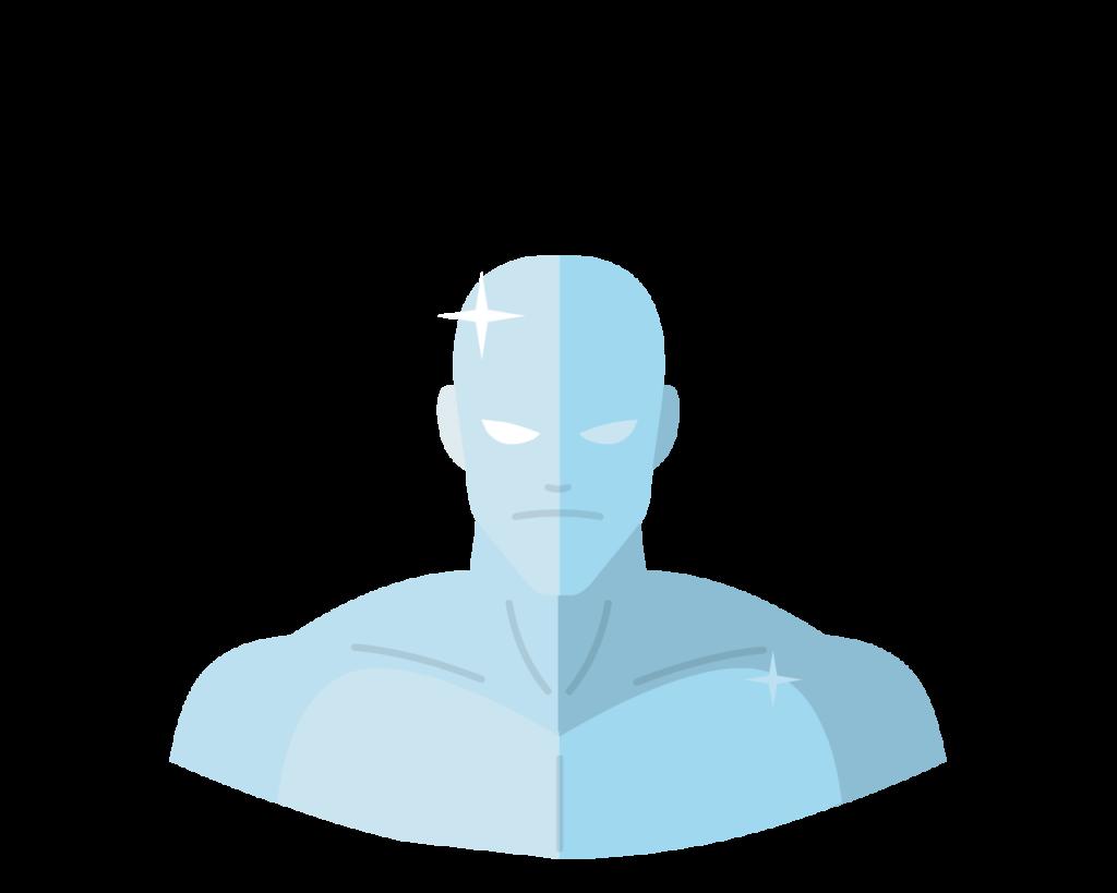 X-Men Iceman flat icon