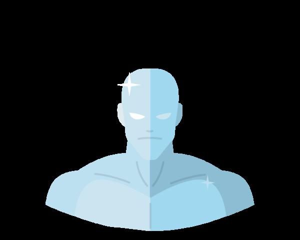 Iceman flat icon