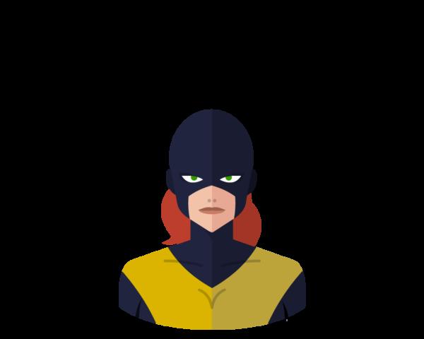 X-Men Marvel Girl flat icon