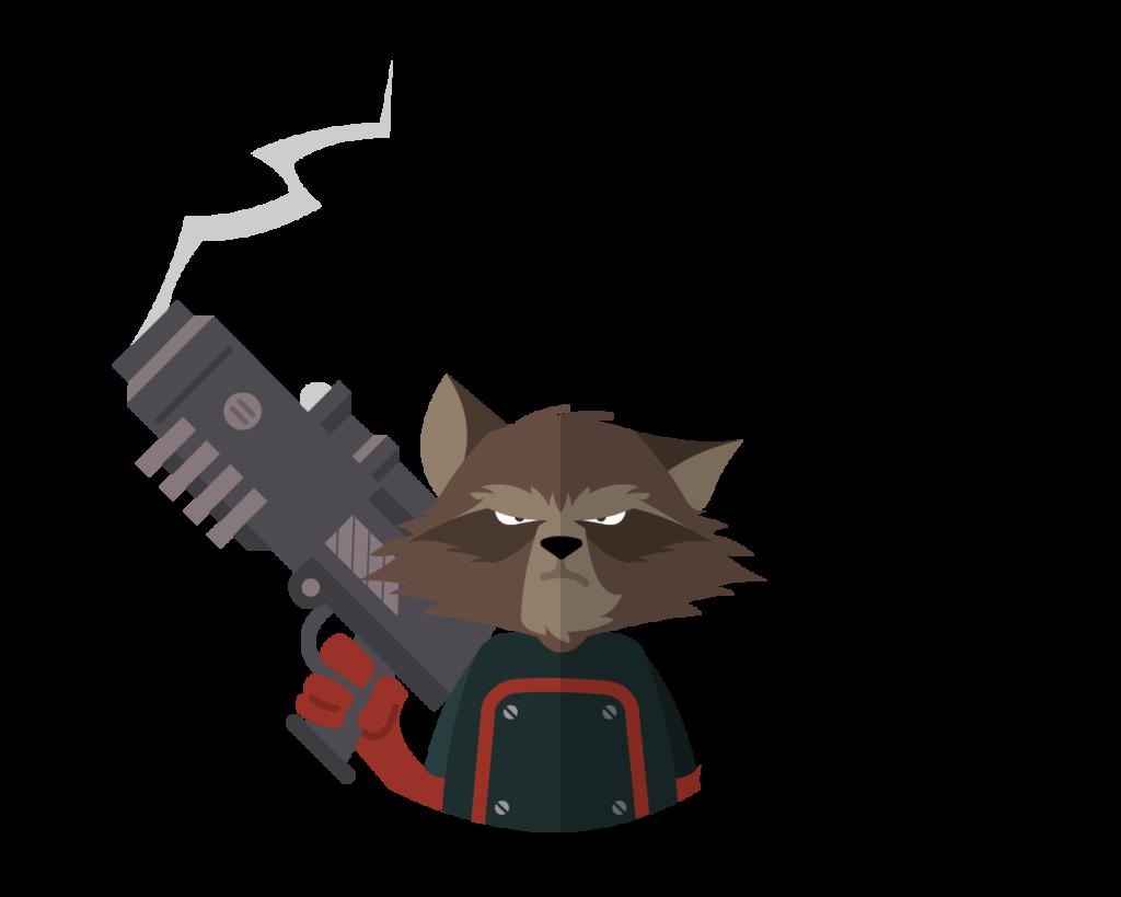 Rocket Raccoon flat icon