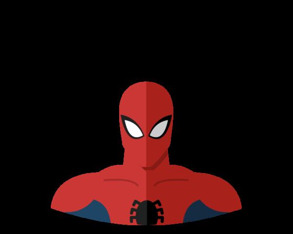 Spiderman flat icon