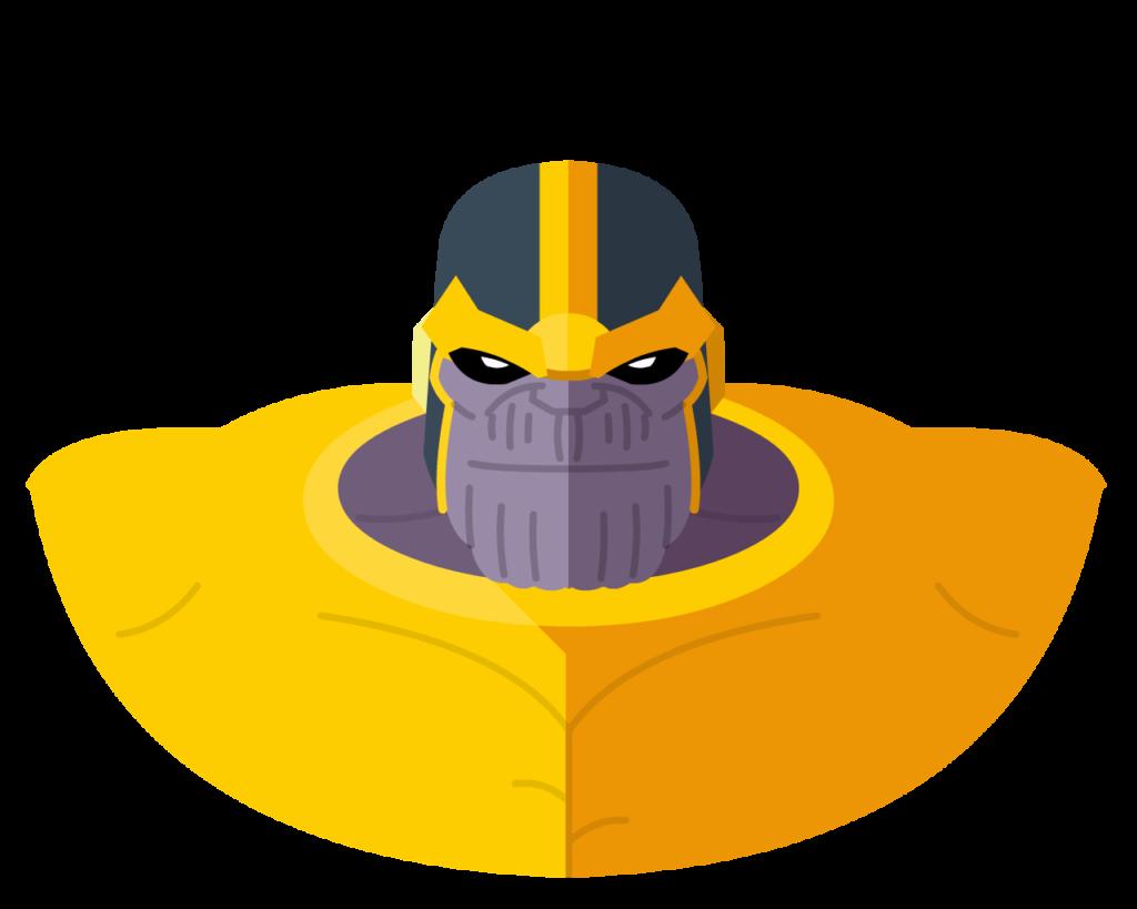 Thanos flat icon