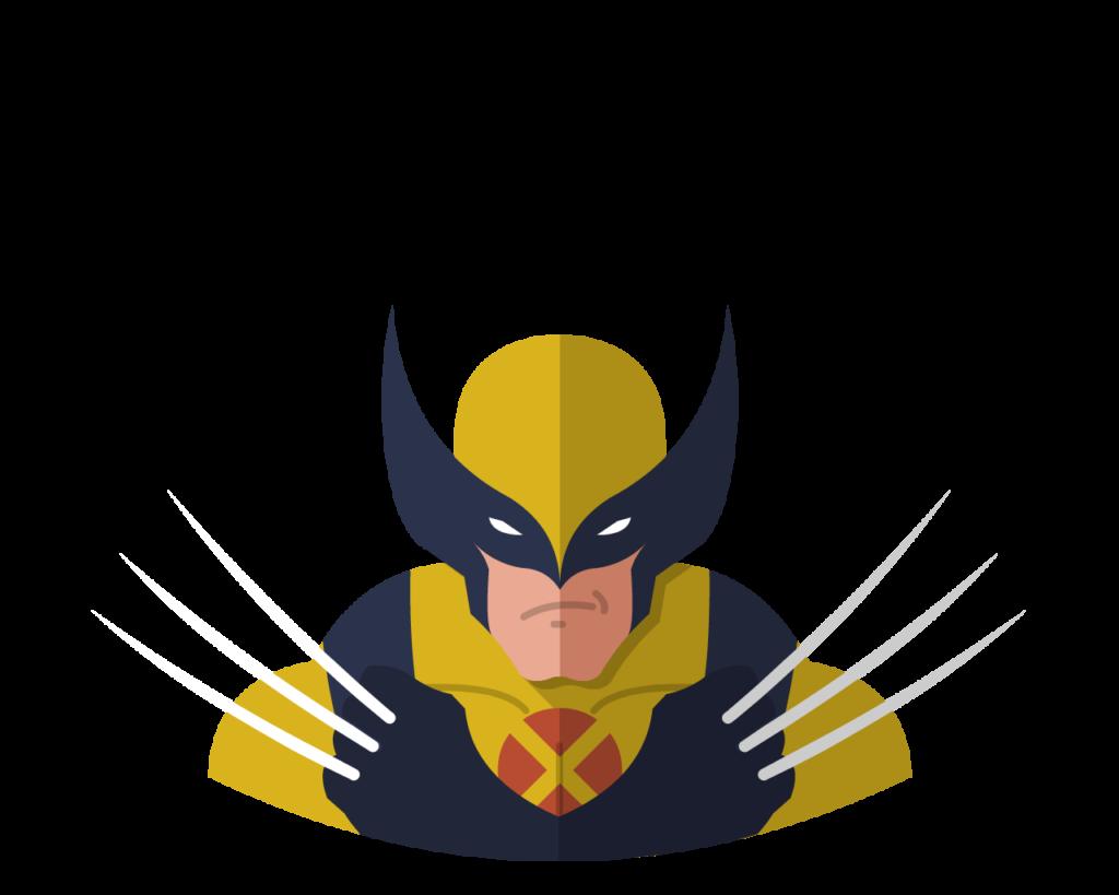 Wolverine flat icon